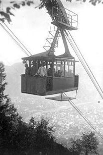 La funivia di Bolzano, inaugurata nel 1908
