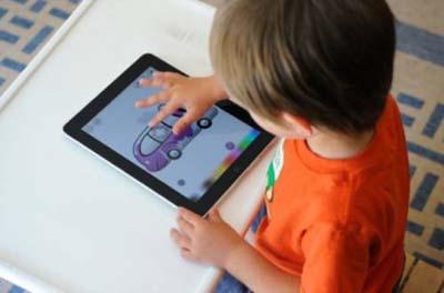Giocare con il tablet