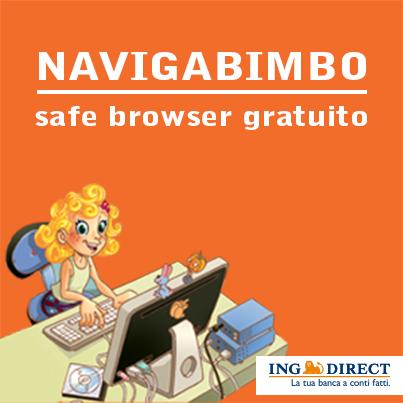 Sicurezza formato bambino in rete