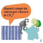 Quanti campi da calcio di foresta devo piantare per compensare le mie emissioni?