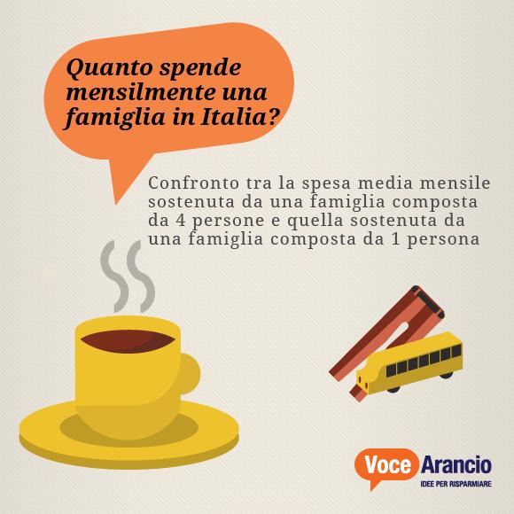 Quanto spende mensilmente una famiglia in Italia?