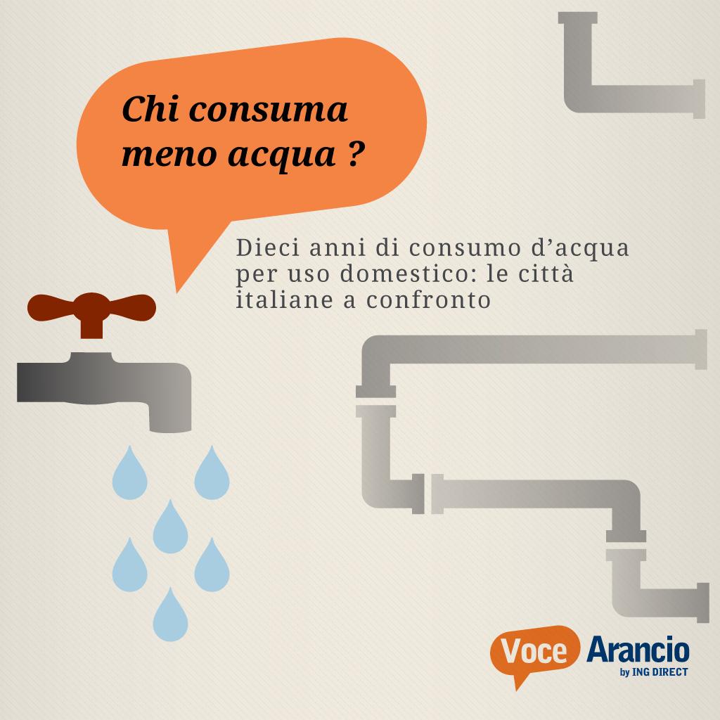 Chi consuma meno acqua?