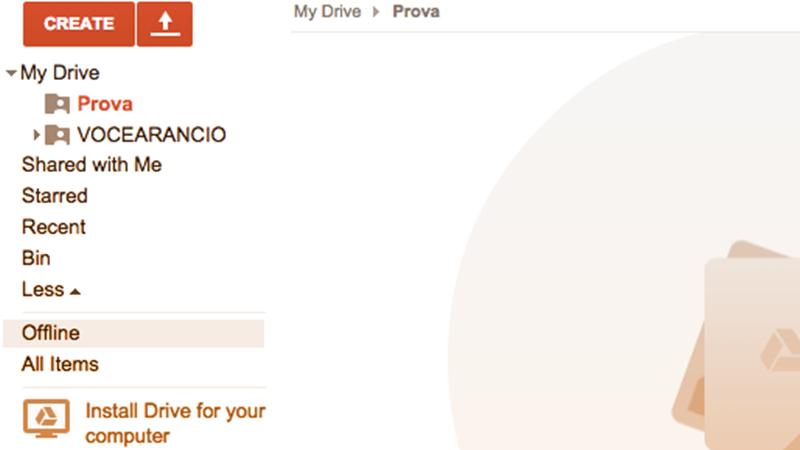 """4. Un archivio sempre a disposizione, anche offline. Se vi serve una copia dei vostri file anche senza connessione, Google Drive consente di accedere ai vostri documenti cliccando su """"Altro"""" e selezionando """"Offline"""". Tenetene conto quando scegliete il servizio giusto per voi!"""