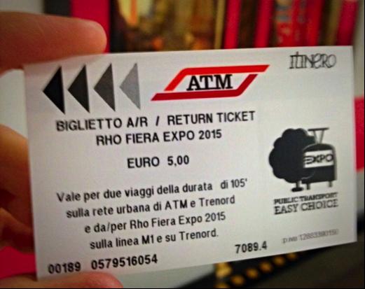 biglietto metro expo
