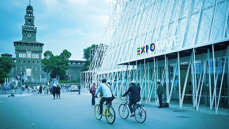 A Expo, passeggiando in bicicletta