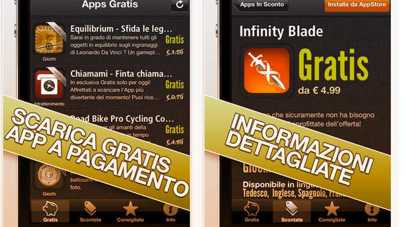5. Appgratis Italia è l'applicazione che permette di scaricare gratis o a prezzi molto scontati app per iOS