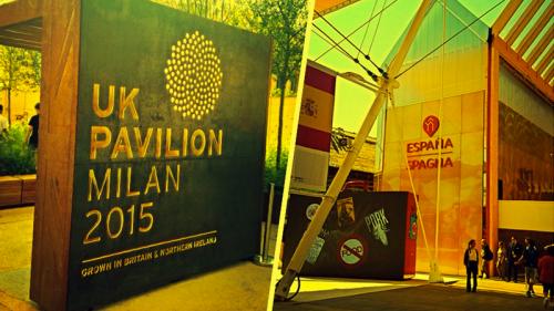 Expo, visita ai padiglioni di Spagna e Regno Unito