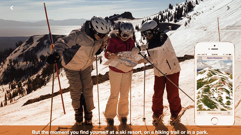 1. Maprikaè un'applicazione per orientarsi sulle piste da scii con mappe precise e aggiornate. (Fonte: Maprika.com)