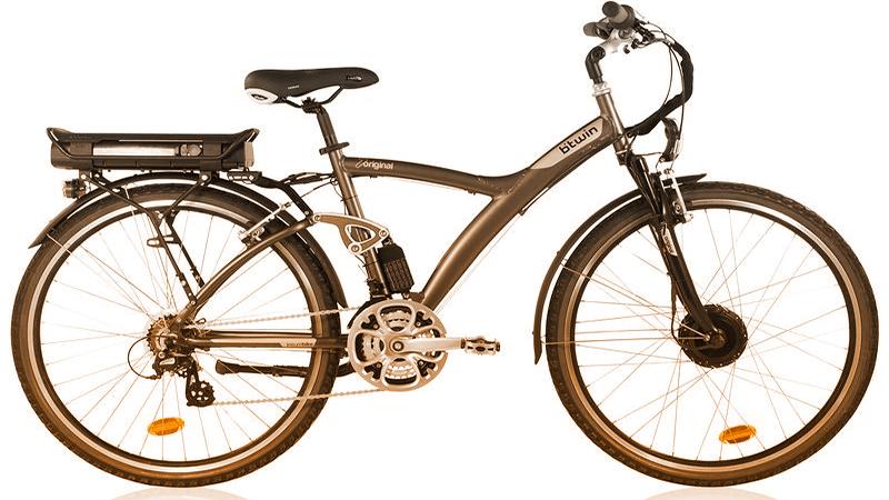 B'Twin Original 7E - ideata da Decathlon per le passeggiate e gli spostamenti su strade e sentieri. (decathlon.com)