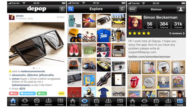 Depop app