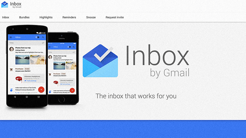 Google Inbox - raggruppa i messaggi sugli eventi, mostra l'anteprima delle newsletter, salva i link da leggere più tardi.