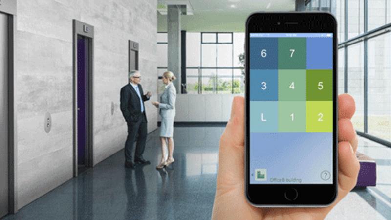 Gen2 di Otis è un ascensore che permette a chi lo usa di chiamarlo tramite l'app Otis eCall.